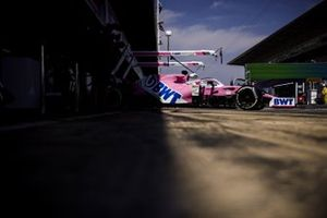 Sergio Perez, Racing Point RP20, leaves the garage