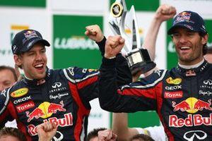 Sebastian Vettel, Red Bull Racing RB7 Renault, and Mark Webber, Red Bull Racing RB7 Renault