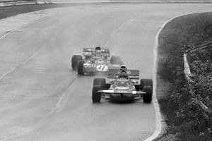 Ronnie Peterson, March 711-Ford, Jackie Stewart, Tyrrell 003-Ford Cosworth, GP del Canada del 1971