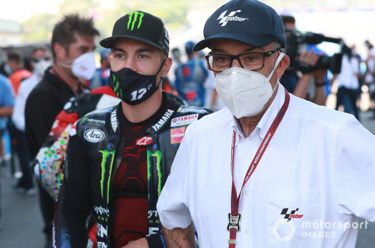 Maverick Vinales, Yamaha Factory Racing, Carmelo Carmelo Ezpeleta, CEO Dorna Sports