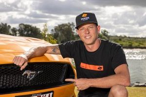 James Courtney with a Ford Mustang