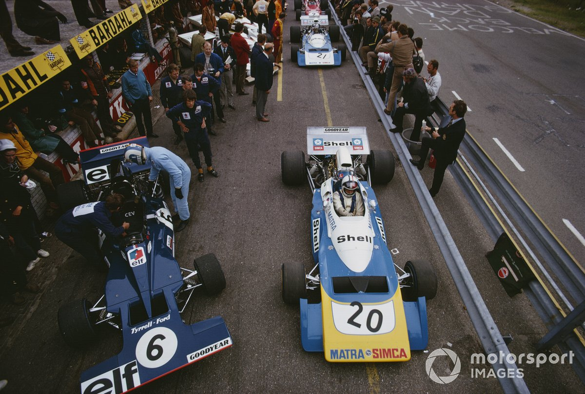 Chris Amon, Matra MS120B, Francois Cevert, Tyrrell 002 Ford