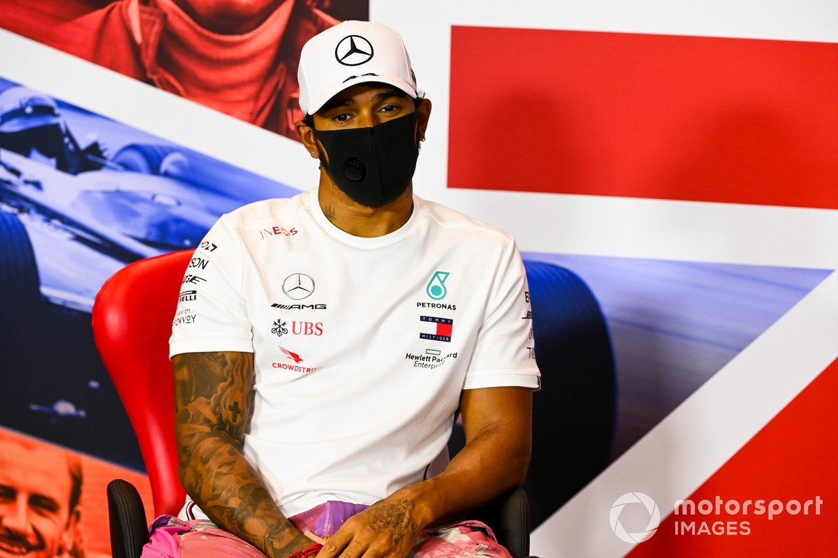 Lewis Hamilton, Mercedes AMG F1 in conferenza stampa