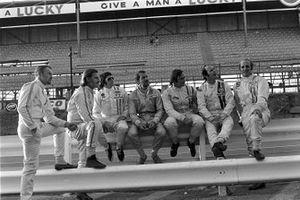 Dave Charlton, Brabham, Graham Hill, Brabham, Jackie Stewart, Tyrrell, Joakim Bonnier, McLaren, Chris Amon, Matra, Peter Gethiin, British Racing Motors, Denny Hulme, McLaren