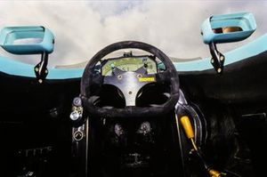 Inside the cockpit of the Leyton House CG911 Ilmor