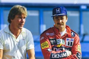 Nigel Mansell, Williams, mit James Hunt