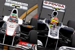 Sergio Perez, Sauber C30, Pastor Maldonado, Williams F1 Team