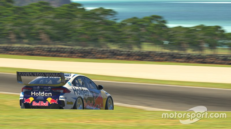 Digital render of Shane van Gisbergen's Triple Eight Holden Commodore