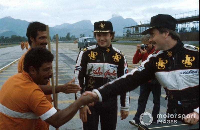 Elio de Angelis and Nigel Mansell