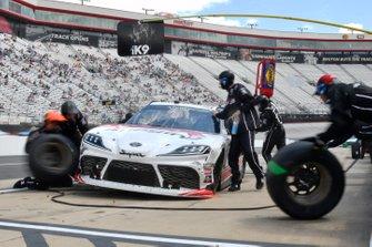 Harrison Burton, Joe Gibbs Racing, Toyota Supra Dex Imaging, makes a pit stop.