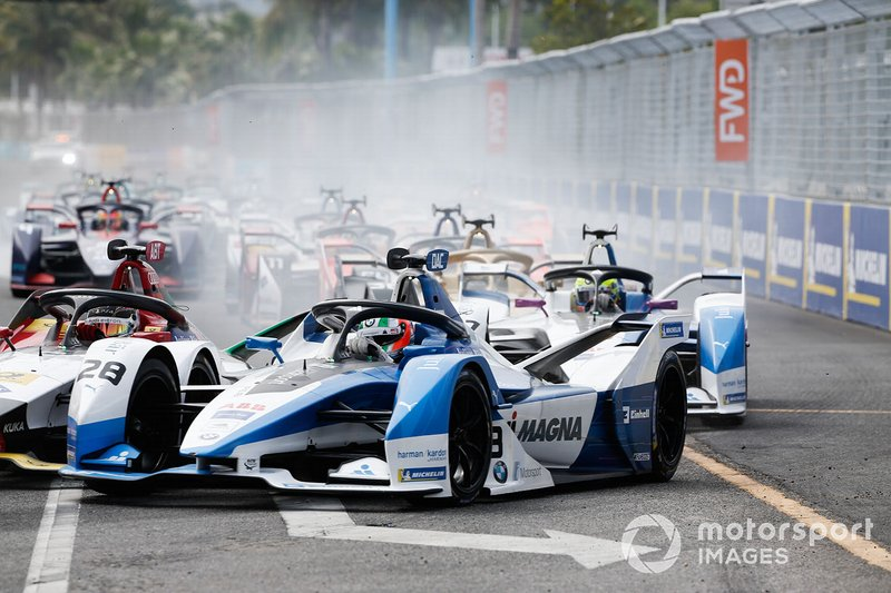Antonio Felix da Costa, BMW I Andretti Motorsports, BMW iFE.18, Alexander Sims, BMW I Andretti Motorsports, BMW iFE.18, en la salida
