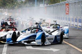Antonio Felix da Costa, BMW I Andretti Motorsports, BMW iFE.18, Alexander Sims, BMW I Andretti Motorsports, BMW iFE.18, alla partenza