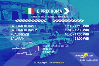 Jadwal Formula E E-Prix Roma