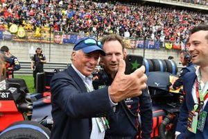 Michel de Carvalho avec Christian Horner, Team Principal, Red Bull Racing