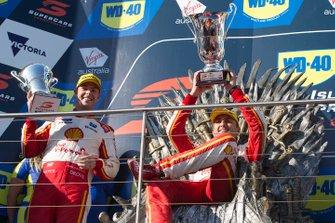 Podium: race winner Fabian Coulthard, DJR Team Penske Ford, second place Scott McLaughlin, DJR Team Penske Ford