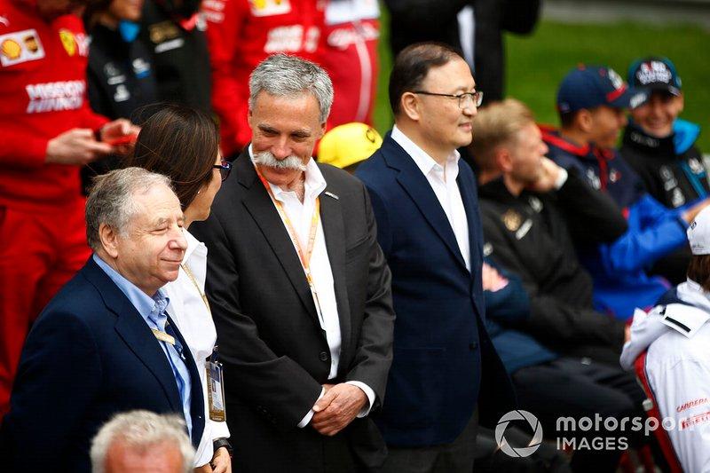 Cerimônia: Antes do GP 1000, celebrações em Xangai com Jean Todt, presidente da FIA, e Chase Carey, CEO da F1