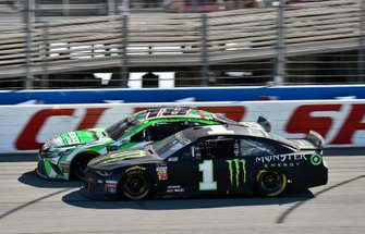 Kurt Busch, Chip Ganassi Racing, Chevrolet Camaro Monster Energy and Kyle Busch, Joe Gibbs Racing, Toyota Camry Interstate Batteries