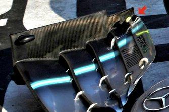 Valtteri Bottas, Mercedes AMG W10, détails de l'aileron avant