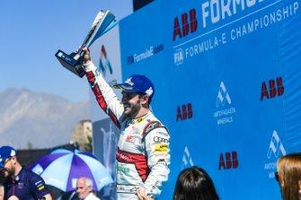Daniel Abt, Audi Sport ABT Schaeffler, fête sa troisième place sur le podium