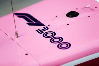 1000th Race Branding on the Racing Point RP19 nose