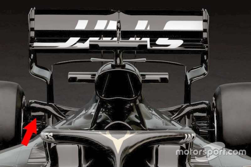 Haas F1 VF-19 arka süspansiyon detay