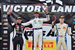 TA podium finishers Lawrence Loshak, Tomy Drissi, and Simon Gregg