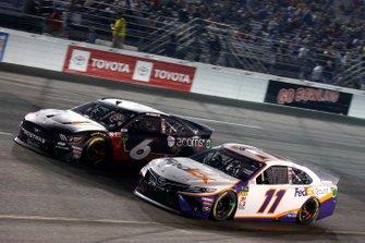 Denny Hamlin, Joe Gibbs Racing, Toyota Camry FedEx Ground Ryan Newman, Roush Fenway Racing, Ford Mustang Roush Performance