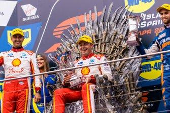 Podium: 1. Scott McLaughlin, 2. Fabian Coulthard, 3. Andre Heimgartner