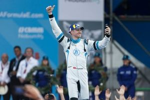 Le troisième Edoardo Mortara Venturi Formula E, sur le podium