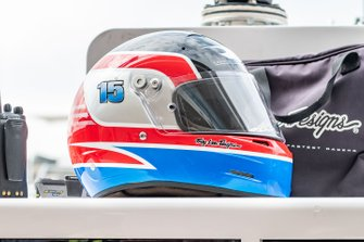 Helmet of Graham Rahal, Rahal Letterman Lanigan Racing Honda