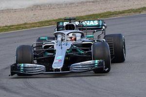 Lewis Hamilton, Mercedes-AMG F1 W10 EQ Power+, avec des capteurs aéro