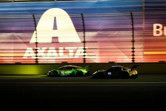 #11 GRT Grasser Racing Team Lamborghini Huracan GT3, GTD: Mirko Bortolotti, Christian Engelhart, Rik Breukers, Rolf Ineichen, #912 Porsche GT Team Porsche 911 RSR, GTLM: Mathieu Jaminet, Earl Bamber, Laurens Vanthoor