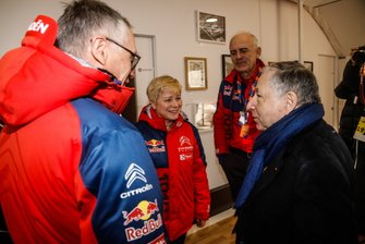 Jean Todt, FIA President visit the Citroën World Rally Team