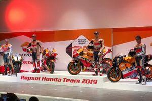 Mick Doohan, Alex Criville, Marc Márquez e Jorge Lorenzo, Repsol Honda Team