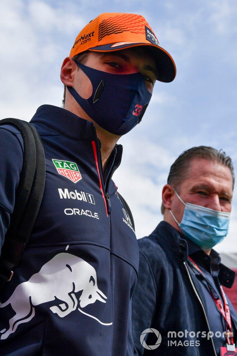 Max Verstappen, Red Bull Racing and Jos Verstappen