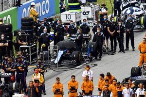 Team Alpine F1 sulla griglia di partenza