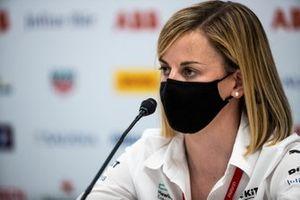 Susie Wolff, Team Principal, Venturi. in the press conference