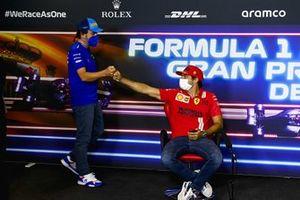 Fernando Alonso, Alpine F1 and Carlos Sainz Jr., Ferrari in the Press Conference