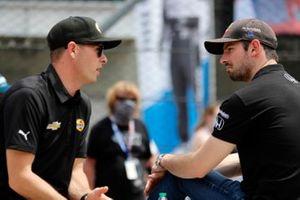 Scott McLaughlin, Team Penske Chevrolet, Alexander Rossi, Andretti Autosport Honda