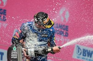 Lando Norris, McLaren, 3e plaats, op het podium