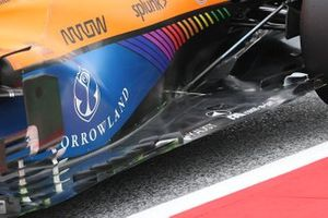 McLaren MCL35M floor detail