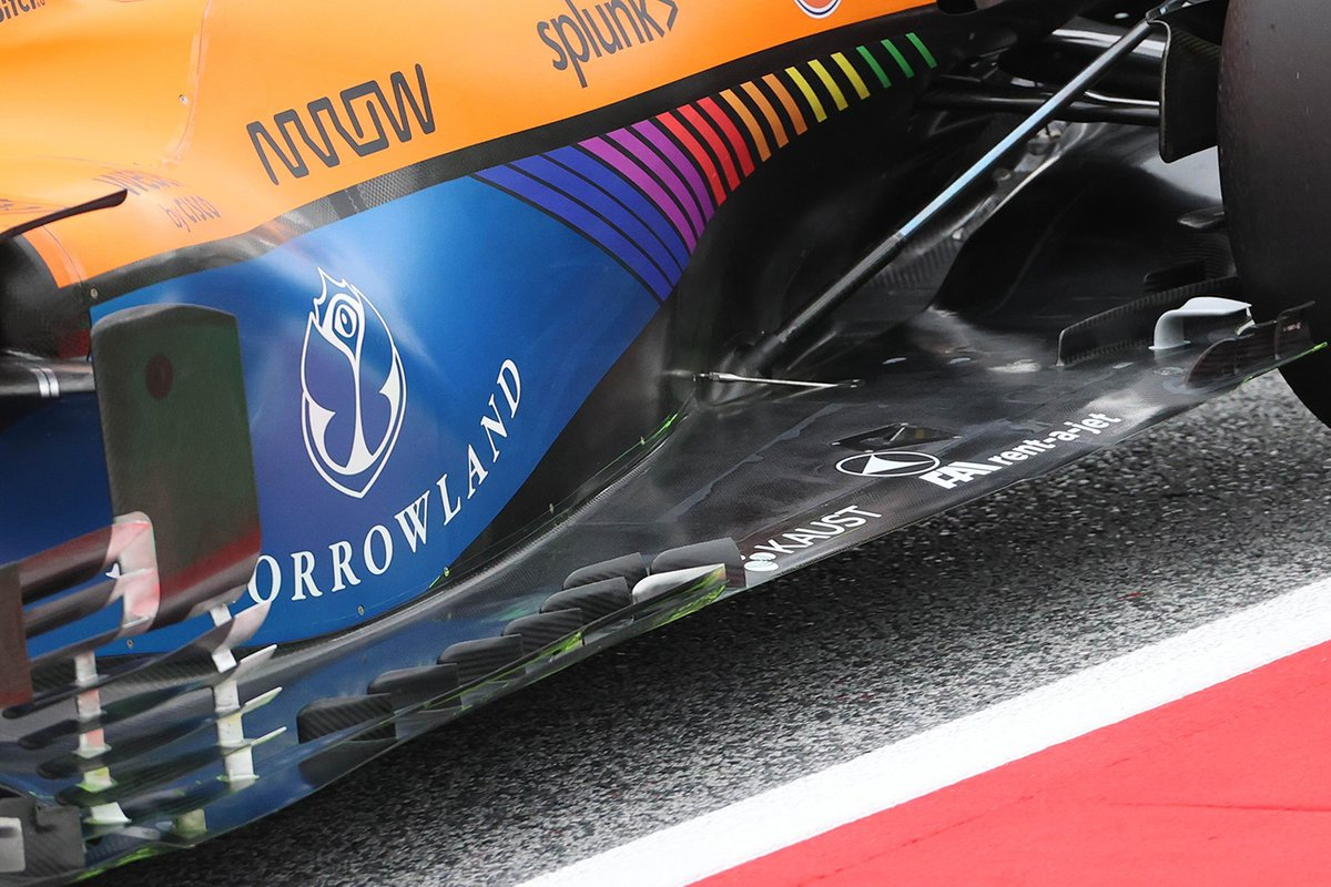 Detalle del piso del McLaren MCL35M