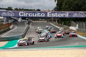 Start action, Tiago Monteiro, ALL-INKL.DE Münnich Motorsport Honda Civic Type R TCR leads