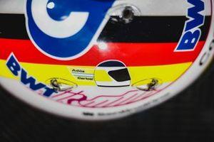 Casco de Sebastian Vettel, Aston Martin en homenaje a Carlos Reutemann