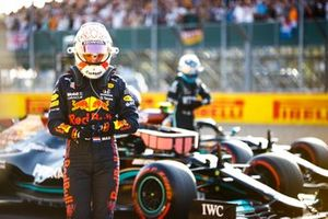 Max Verstappen, Red Bull Racing, arrives in Parc Ferme after Qualifying