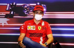 Charles Leclerc, Ferrari at press conference