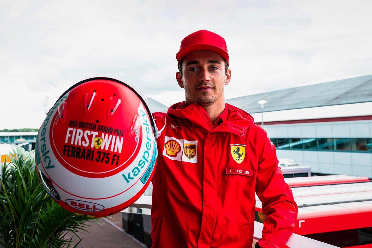 Charles Leclerc, Ferrari con su casco