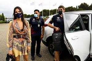Kelly Piquet with Max Verstappen, Red Bull Racing