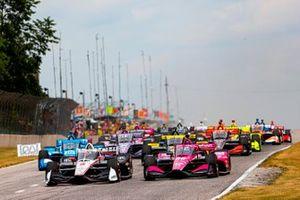 Josef Newgarden, Team Penske Chevrolet, Jack Harvey, Meyer Shank Racing Honda