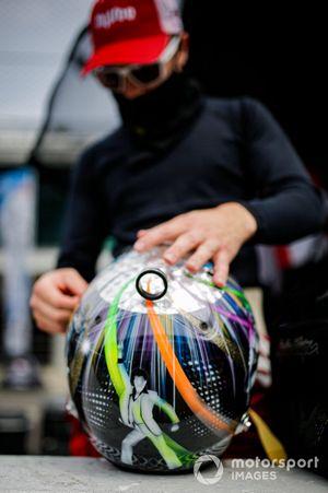 Casco de Santino Ferrucci, Rahal Letterman Lanigan Racing Honda